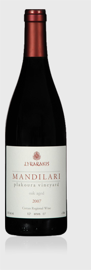 Mandilari Plakoura vineyard Lyrarakis